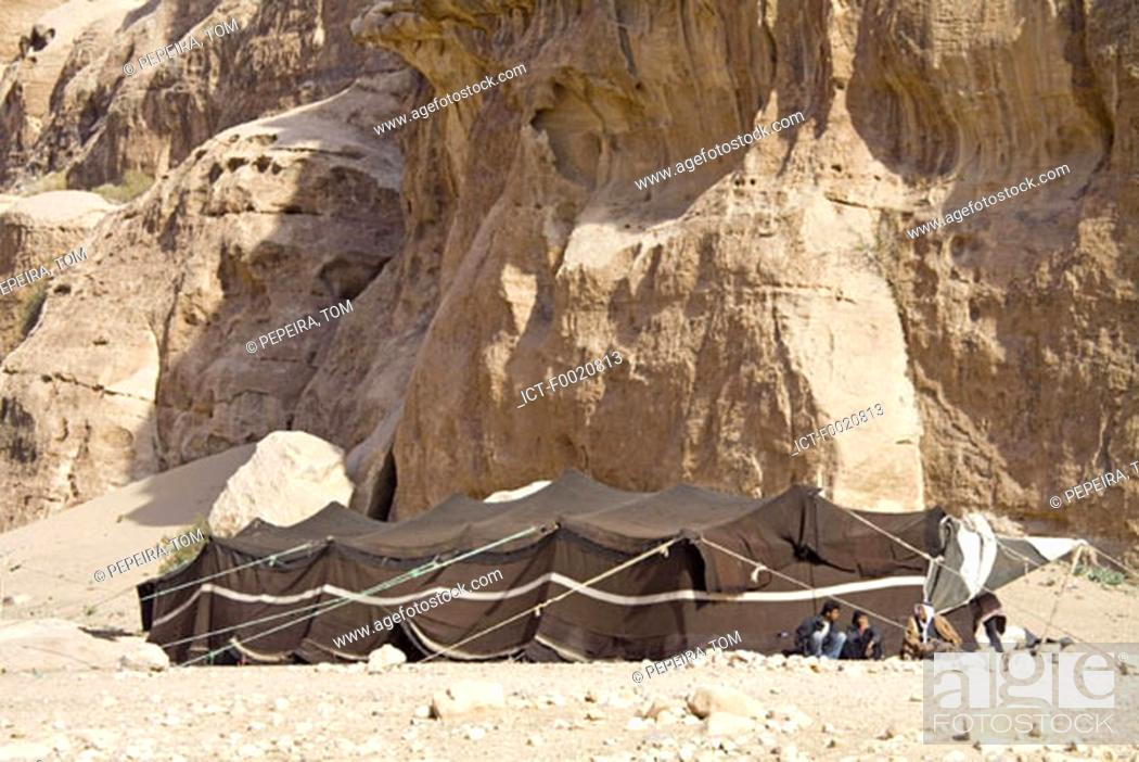 Stock Photo: Jordan, Beida, Bedouin camp.