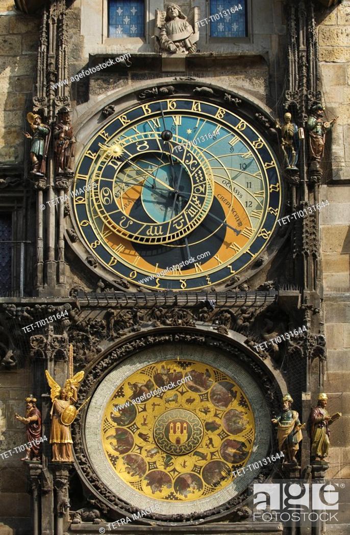 Stock Photo: Prague Astronomical Clock.