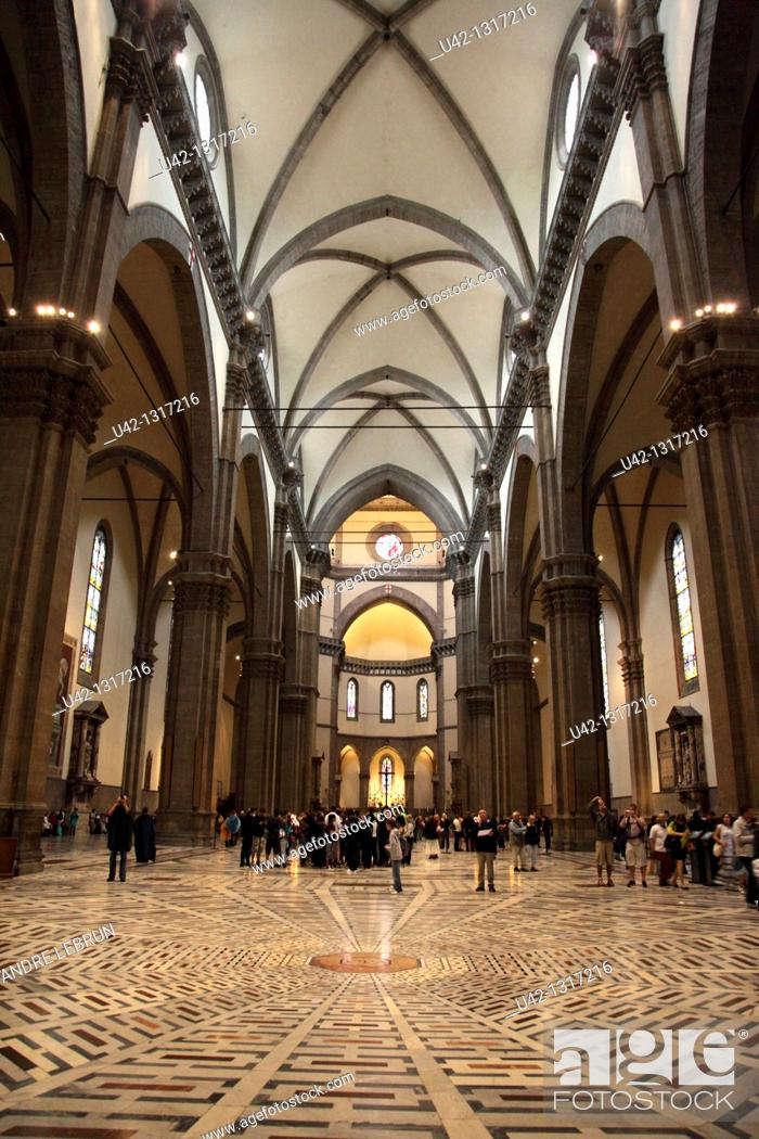 Stock Photo: Interior of the Duomo in Florence, Tuscany, Italy.