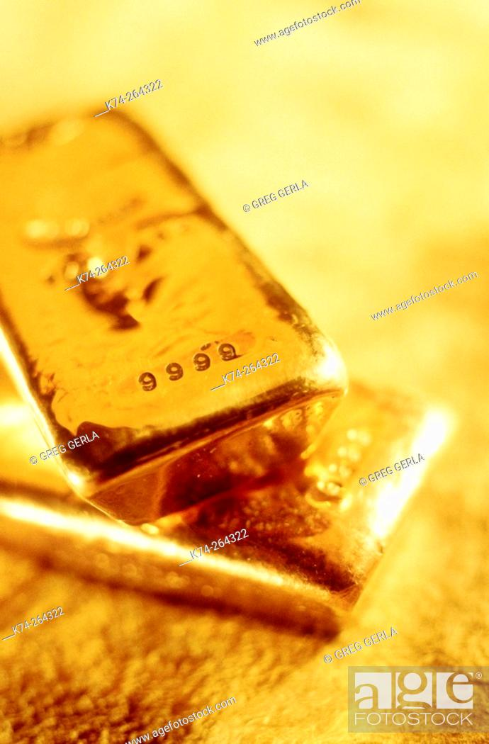 Stock Photo: Gold bars.