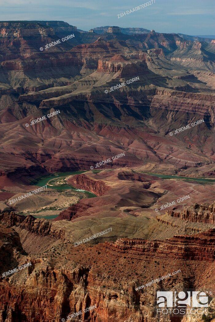 Stock Photo: The Colorado River winds through the Grand Canyon in Arizona, USA.