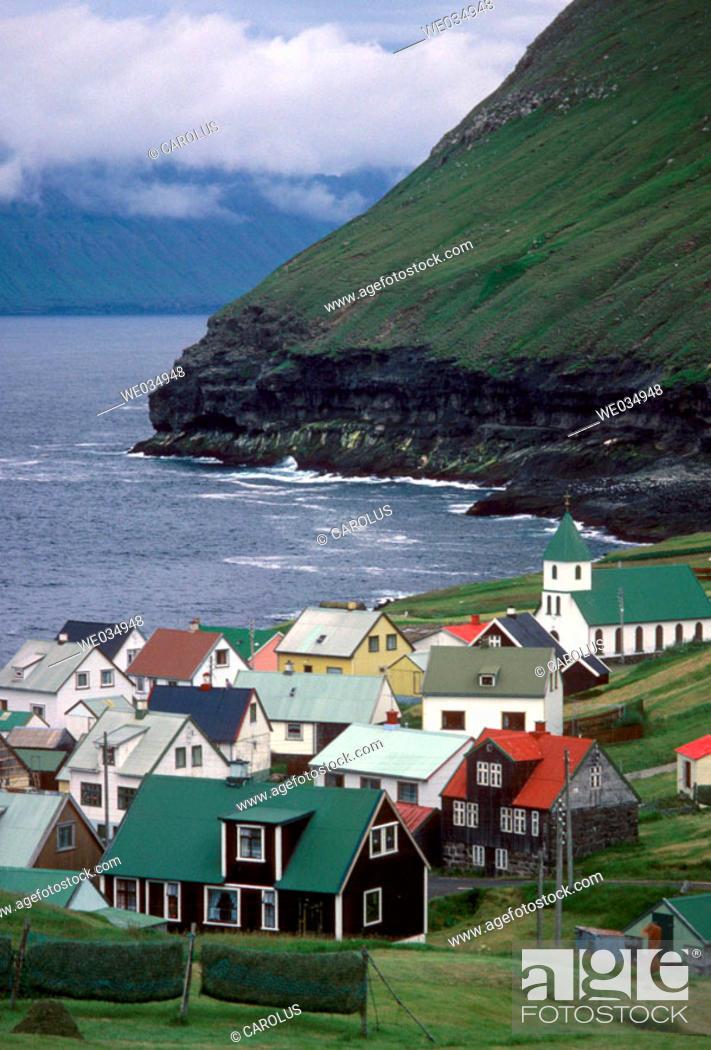 Stock Photo: Gjógv. Island of Eysturoy. Faroe Islands. Denmark.