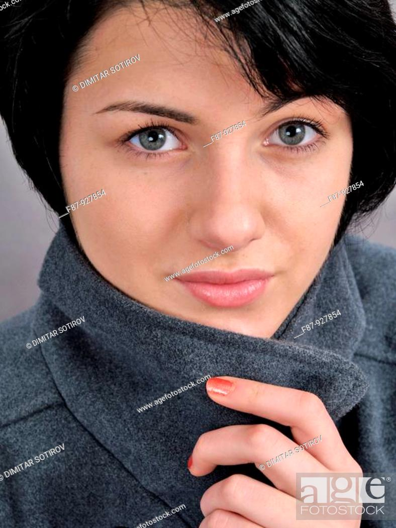 Stock Photo: Young woman , Portrait.
