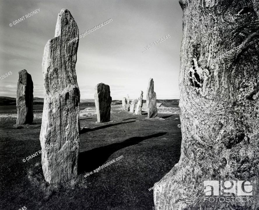 Stock Photo: Standing Stones of Callanish, Isle of Lewis, Scotland.