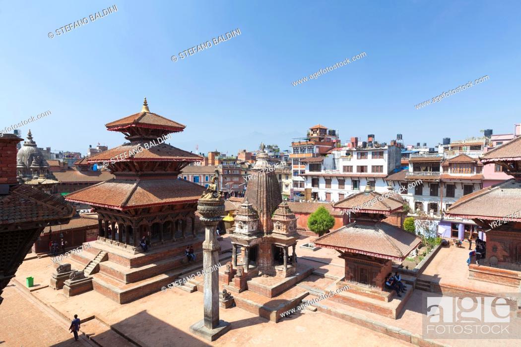 Stock Photo: View of Durbar square, Patan, Nepal.