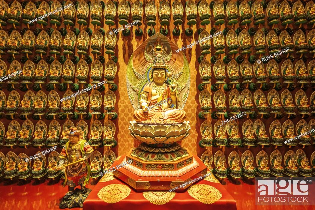 Stock Photo: Sculptures in the Buddha Tooth Relic Temple and Museum, Singapore, Republic of Singapore.