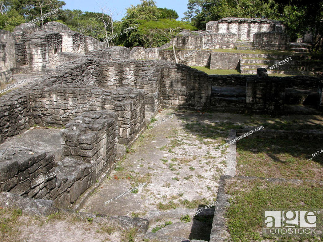 Stock Photo: Mayan ruins of Kohunlich (Pre classic & Early Classic, 100 - 600 A.D.). Quintana Roo, Mexico.