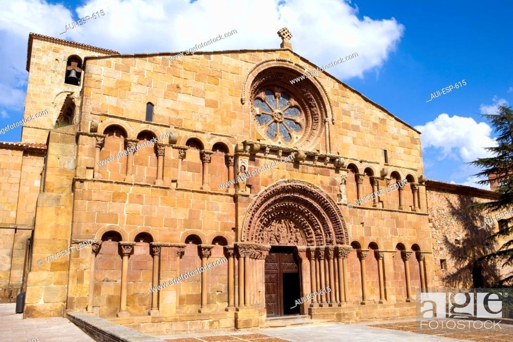 Stock Photo: Spain - Castile and Leon - Soria - Church of Santo Domingo.
