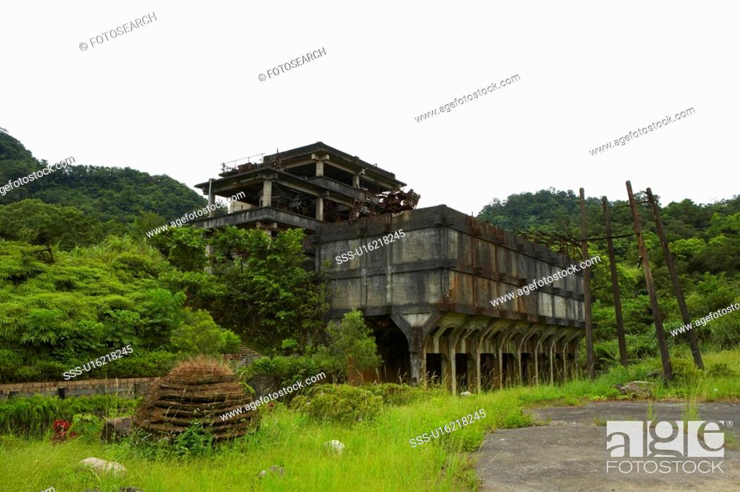 Stock Photo: Building Exterior, Mining Museum in Shih Fen, Taiwan.