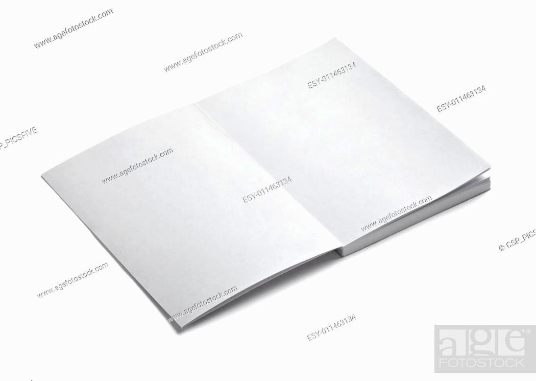 Stock Photo: blank paper.