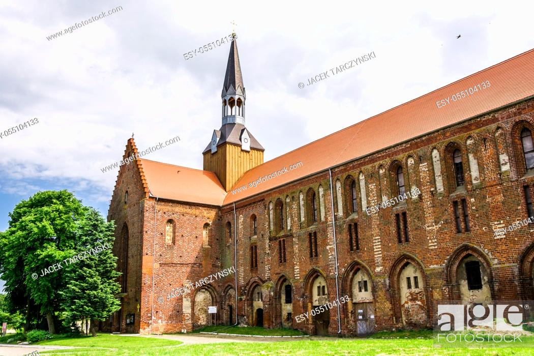 Stock Photo: medieval Cistercian monastery in Kolbacz, Poland.