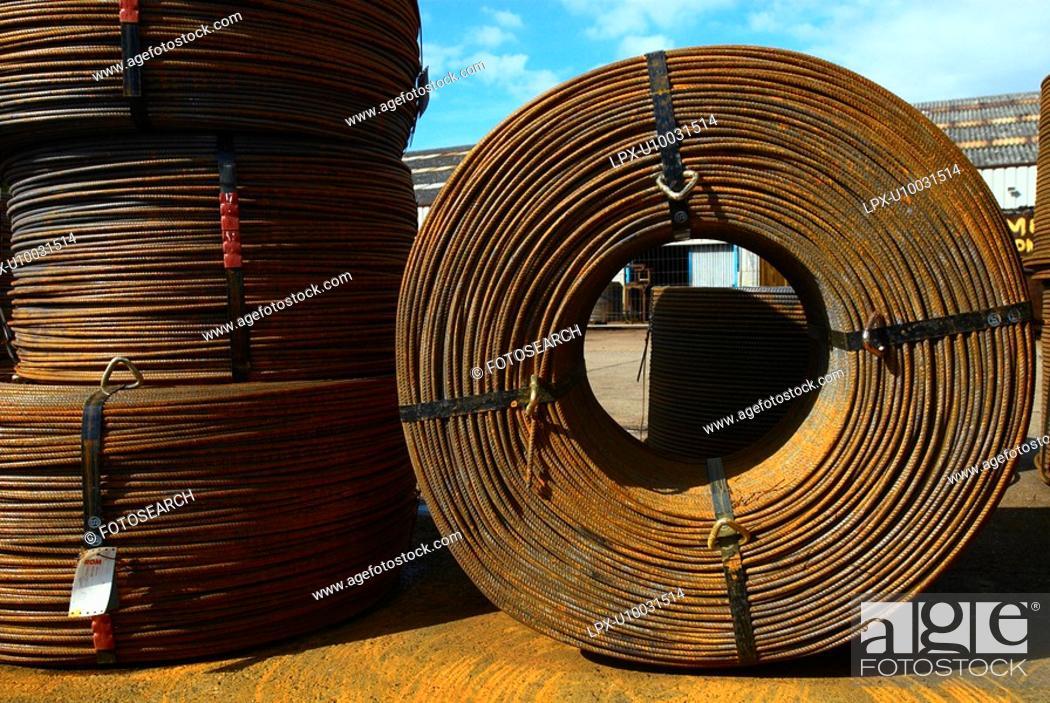 Stock Photo: Concrete reinforcement steel.