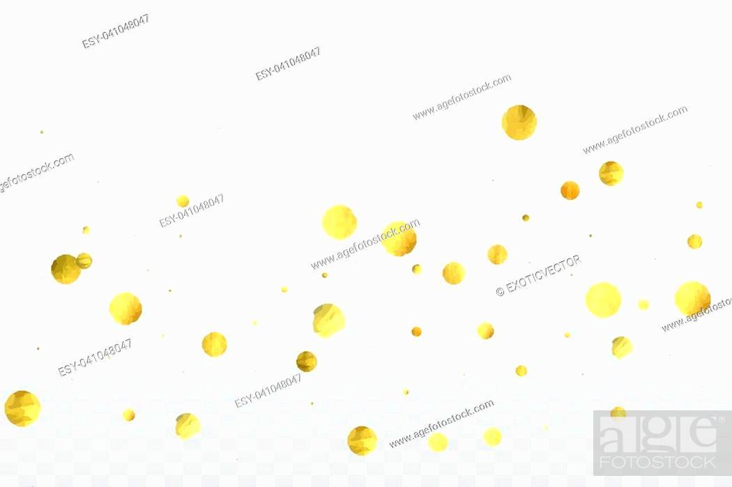 Gold Confetti Celebration Birthday Party Invitation