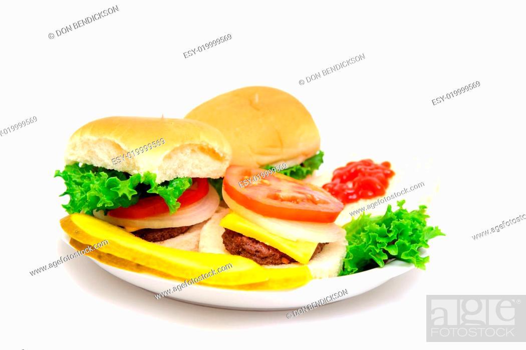 Stock Photo: Mini-hamburgers.