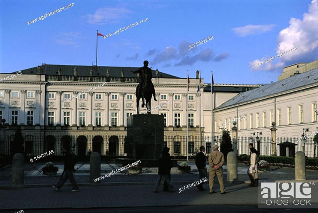Stock Photo: Poland, Wasaw, the Cabinet Headquarters.