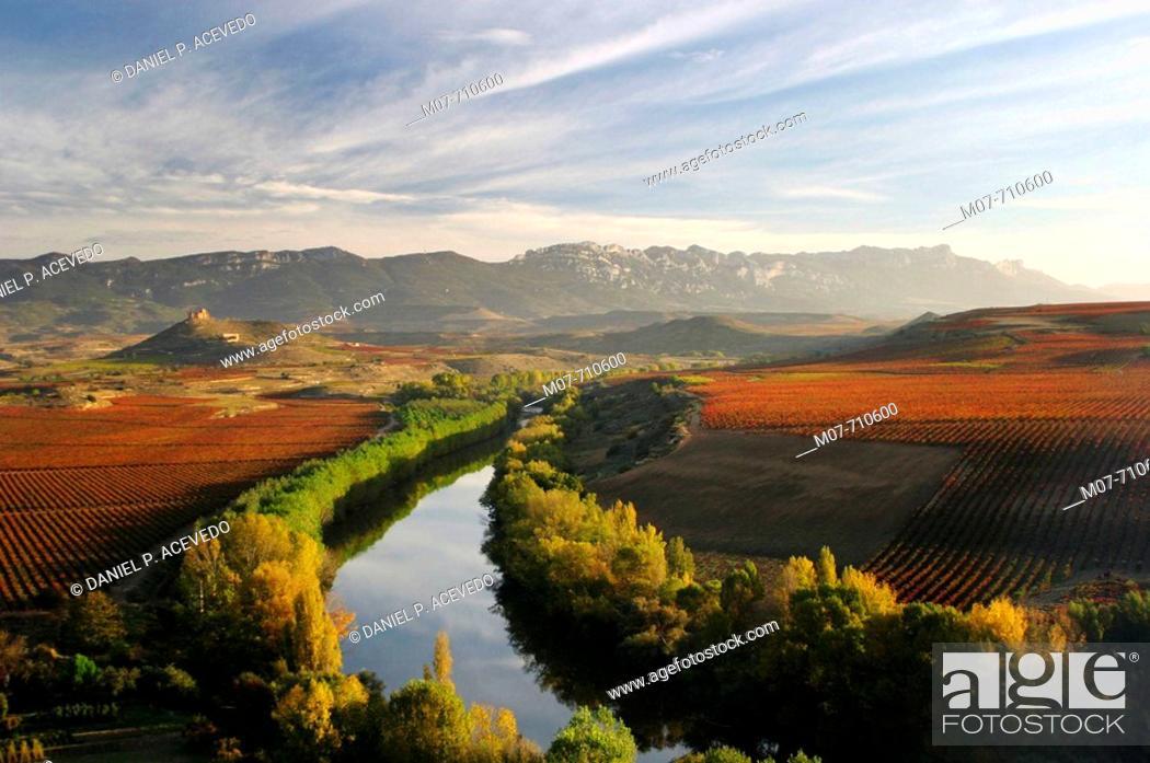 Imagen: Ebro rive valley in autumn.