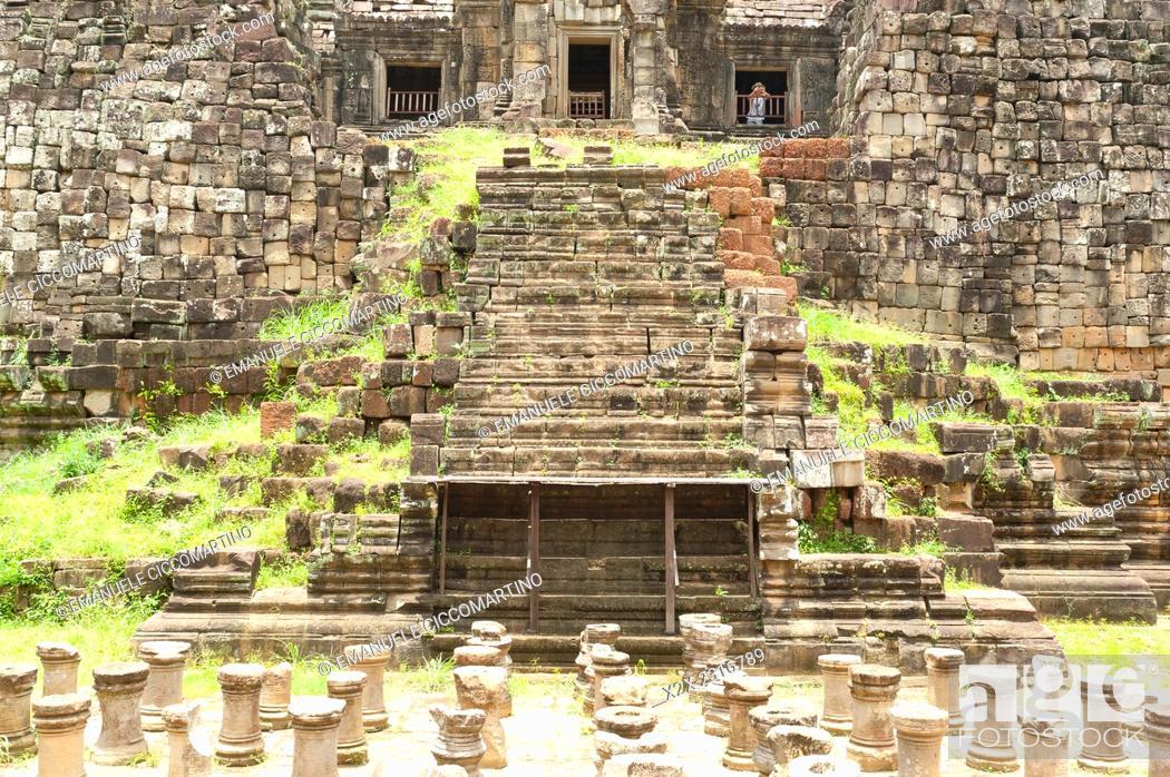 Stock Photo: Angkor Thom, UNESCO World Heritage Site, Angkor, Siem Reap, Cambodia, Indochina, Southeast Asia, Asia.