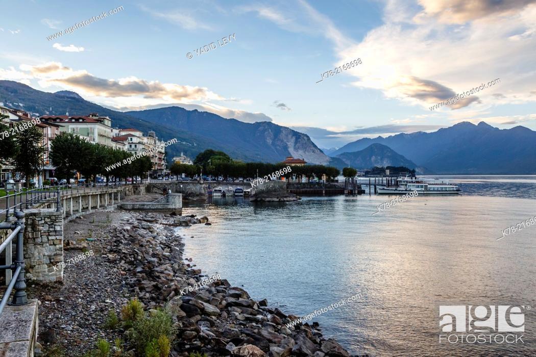 Stock Photo: Stresa, Lake Maggiore, Piedmont, Italy.