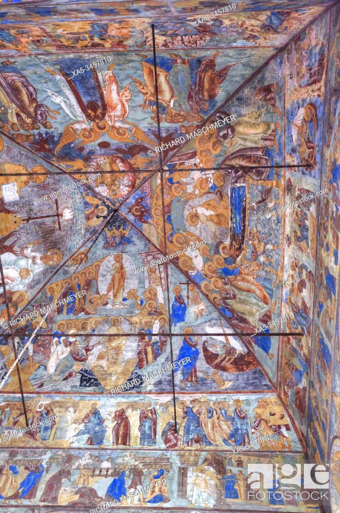 Imagen: Frescoes, Church of Epiphany, UNESCO World Heritage Site, Yaroslavl, Golden Ring, Yaroslavl Oblast, Russia.