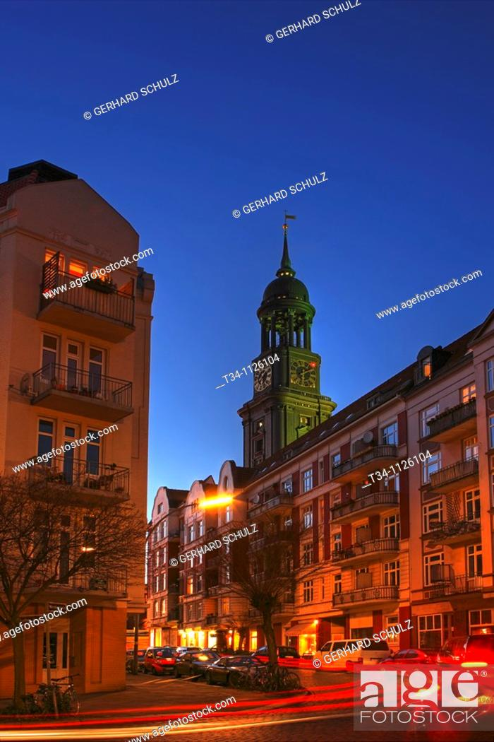 Stock Photo: St Michaelis Church, Hamburg, Germany.