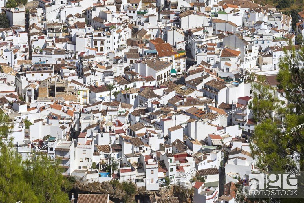 Photo de stock: Ojen, inland Costa del Sol, Malaga Province, Spain.