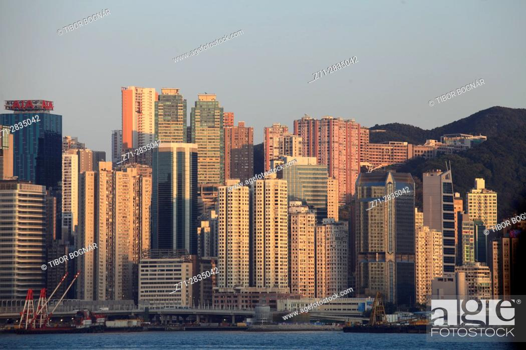 Stock Photo: China, Hong Kong, Causeway Bay, skyline,.