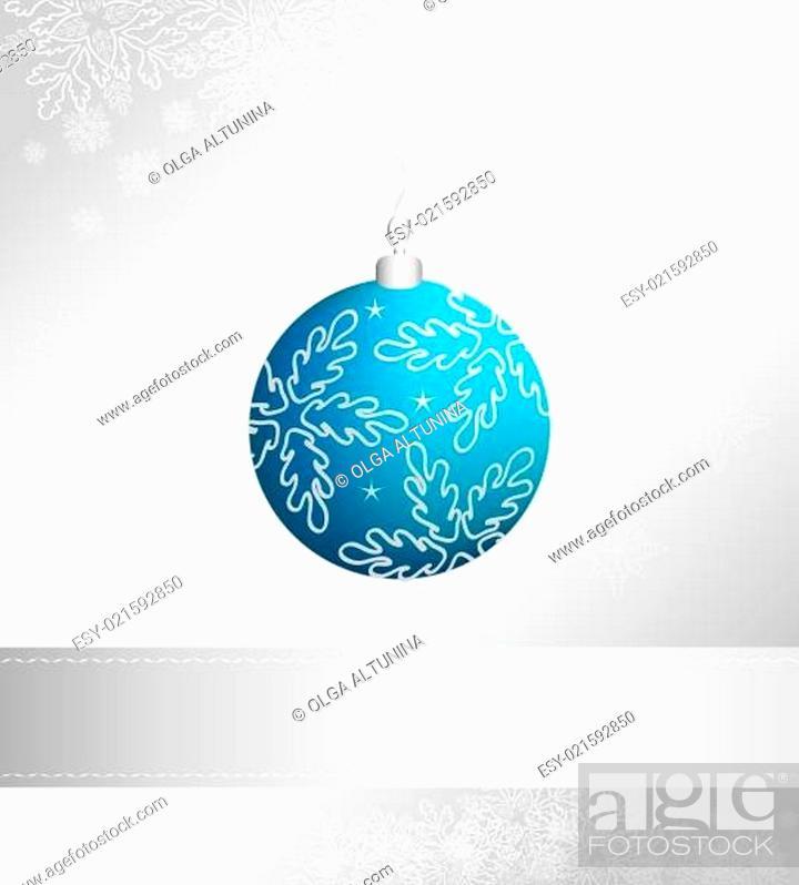 Stock Vector: Christmas ball.