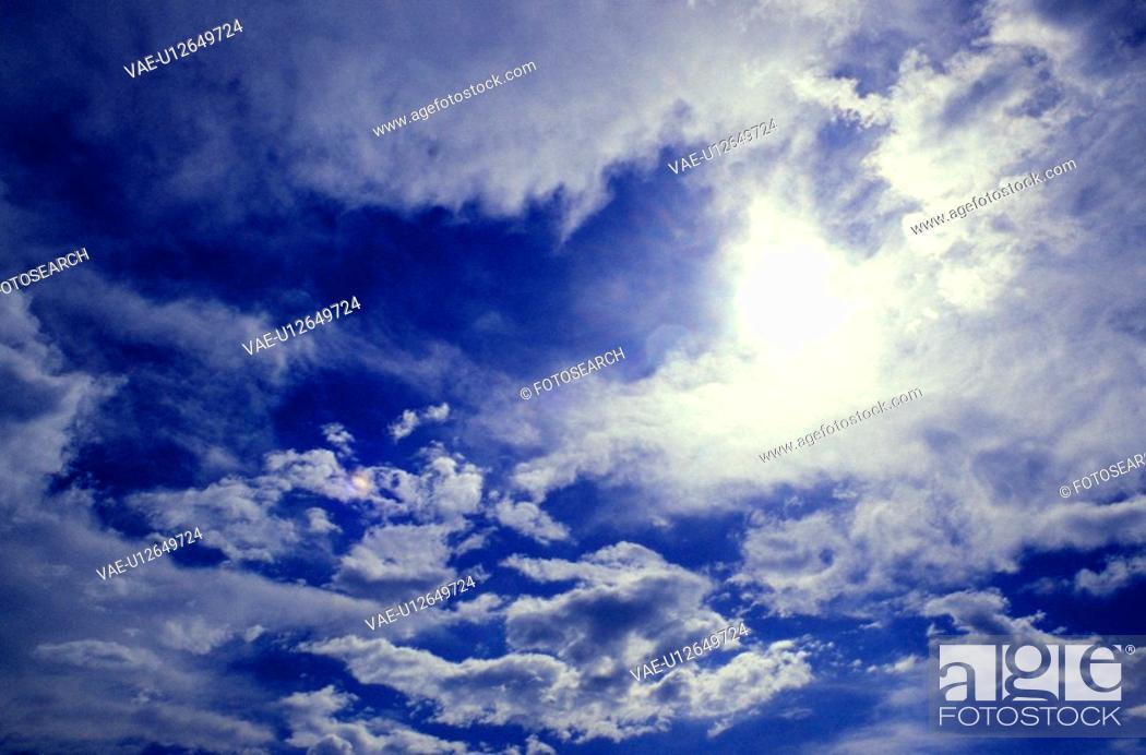 Stock Photo: cloud, background, cellar, blue, blauphoton, alexander.