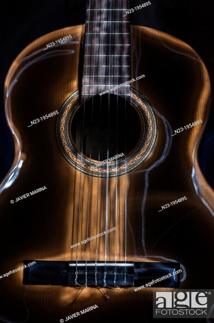 Stock Photo: Spanish Guitar.