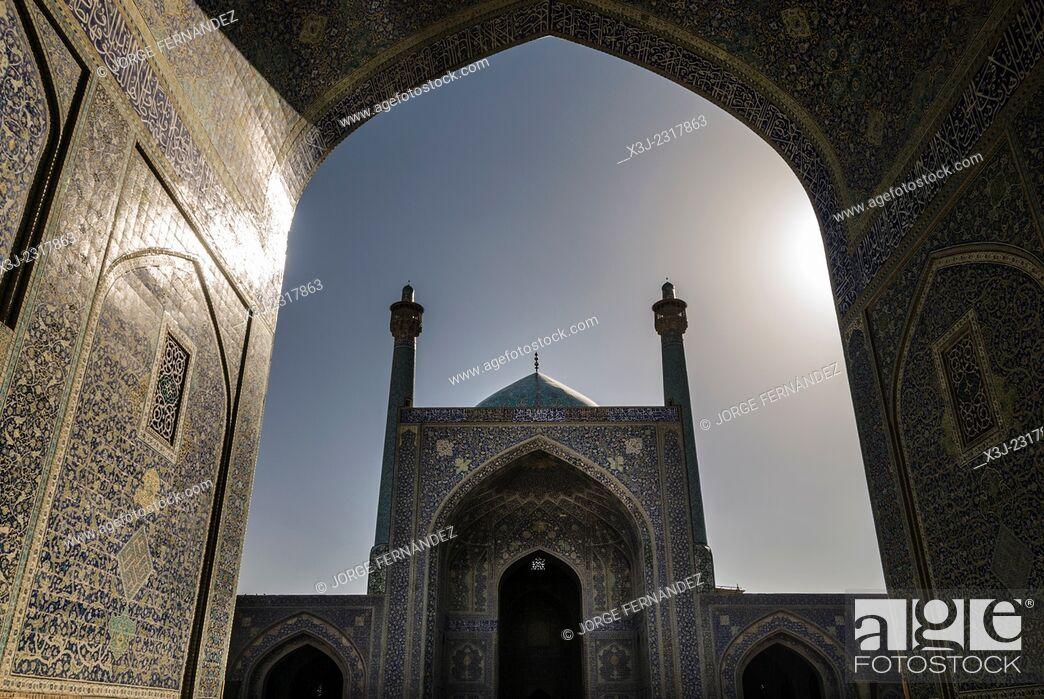 Stock Photo: Imam's mosque, Isfahan, Iran.