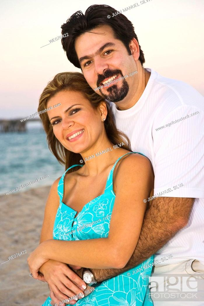 Stock Photo: Couple at the beach, Deerfield Beach, Florida, USA.