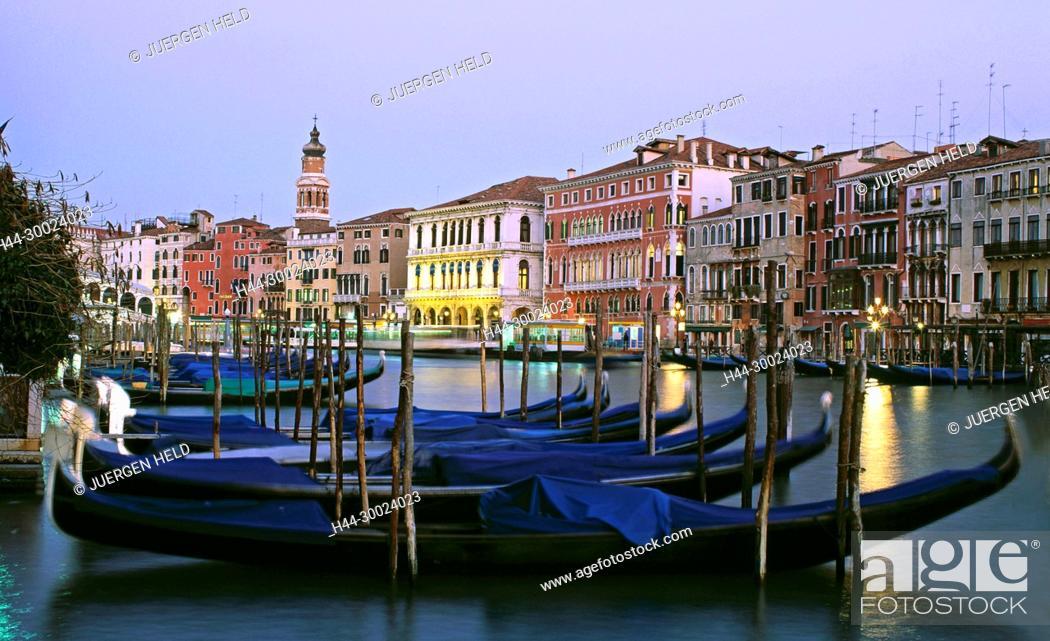 Imagen: Rialto bridge Ponte del Rialto over the Grand canal Venice,dawnVenedig, Venezia, Venice, Italia, Europe,.