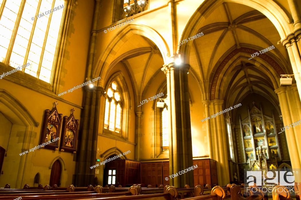 Stock Photo: St  Patrick's Cathedral, East Melbourne, Victoria, Australia.