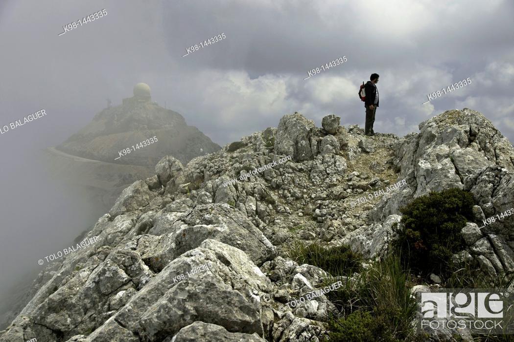 Stock Photo: Puig Major, 1436 meters Escorca Sierra de Tramuntana Majorca Balearic Islands Spain.