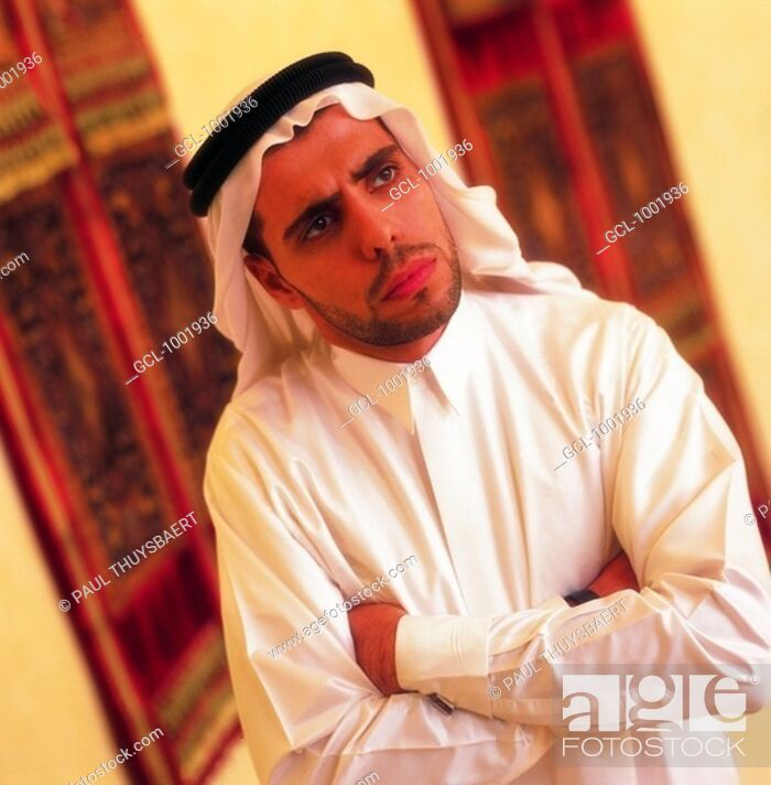Stock Photo: Arab man with folded arms.