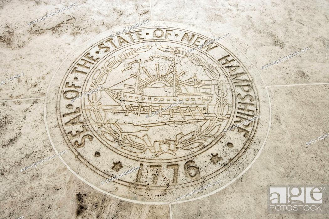 Stock Photo: Seal of New Hampshire in Fort Bonifacio, Manila, Philippines.