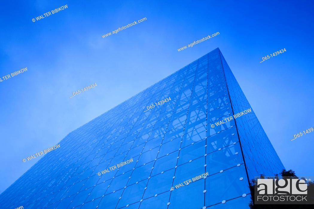 Stock Photo: France, Poitou-Charentes Region, Vienne Department, Poitiers, Futuroscope Science Park, pavillion detail.