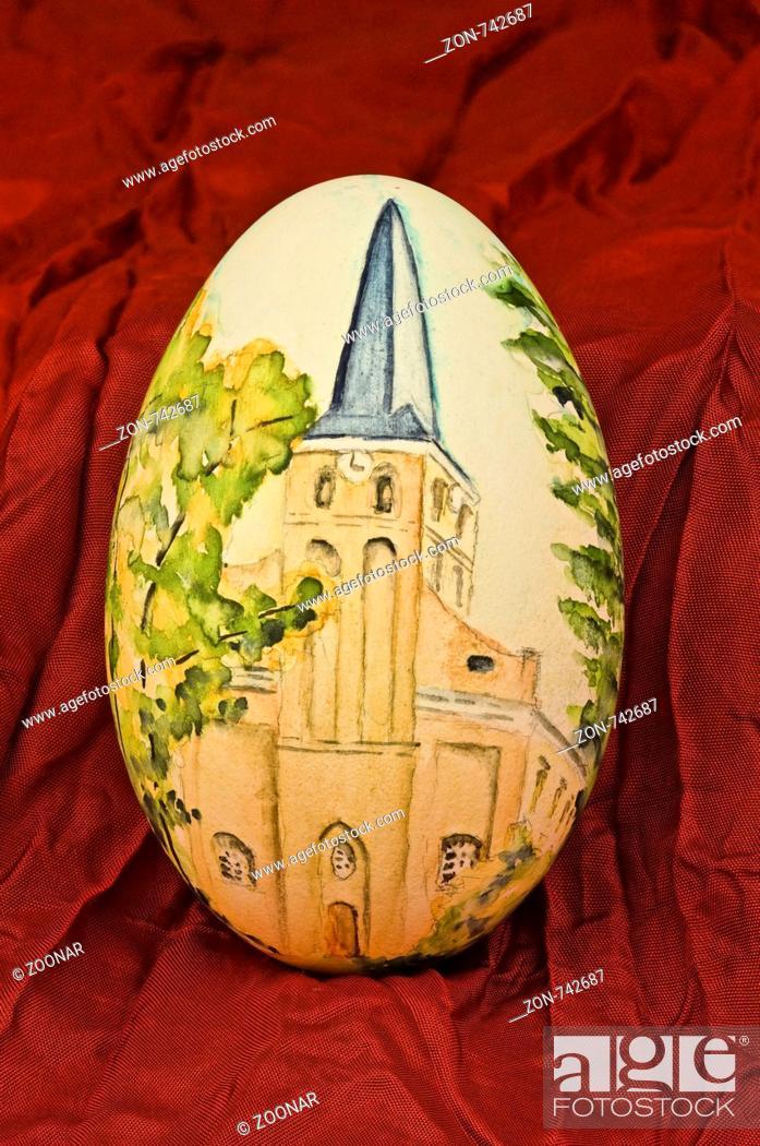 Stock Photo: Easter eggs.