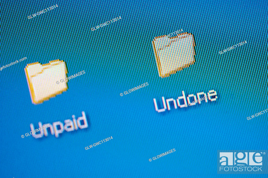 Stock Photo: Computer icon on a computer screen.