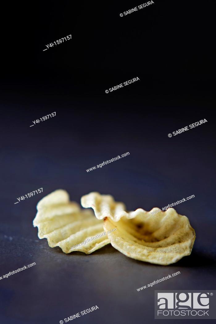 Stock Photo: Chip potatoes.