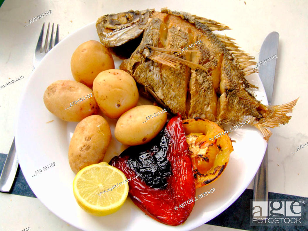 Stock Photo: Fish menu at restaurant. Gran Canaria, Canary Island, Spain.