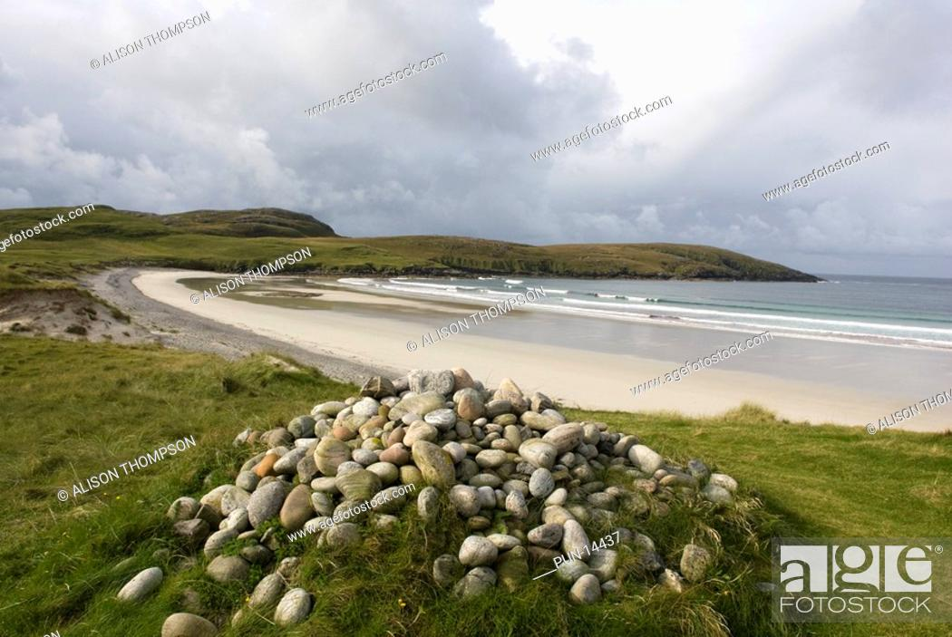 Imagen: Traigh Siar beach, Isle of Vatersay, Outer Hebrides, Scotland.