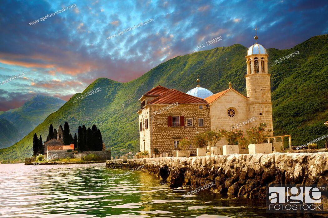 Stock Photo: St George Island Kotor Bay, Perast Montenegro.