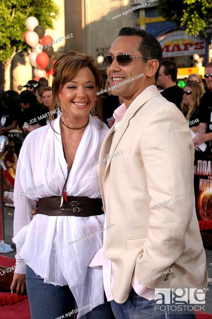 Stock Photo: War of the Worlds (Premiere) Leah Remini, Angelo Pagan 06-27-2005 / Grauman's Chinese Theatre / Hollywood, CA Photo by Joe Martinez.