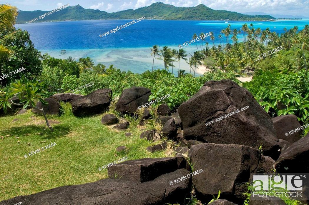 Stock Photo: Bora-Bora. Islands in the Windward. Archipelago of Society Islands. Southern Pacific Ocean. French Polynesia.