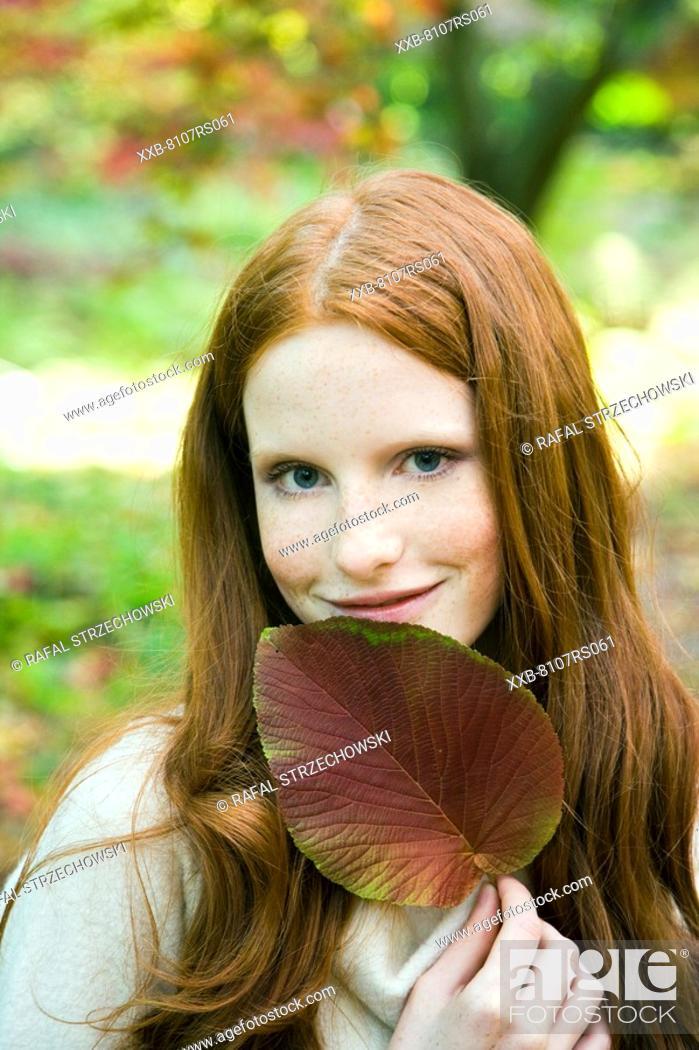 Stock Photo: Ginger woman portrait.