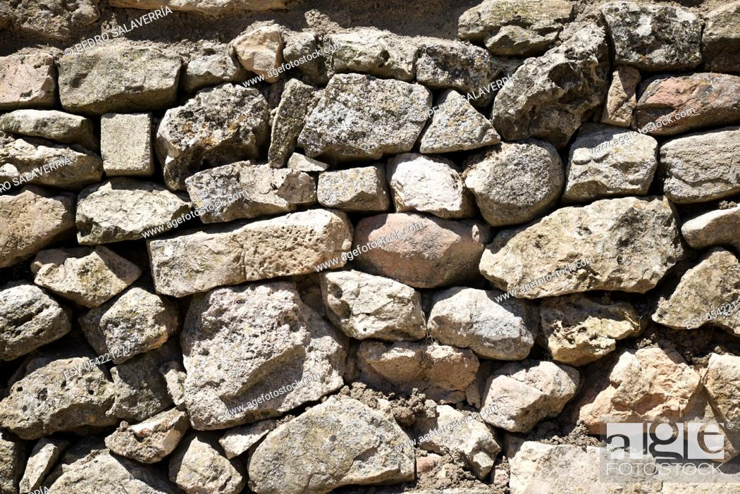 Stock Photo: Stone wall background at high resolution.