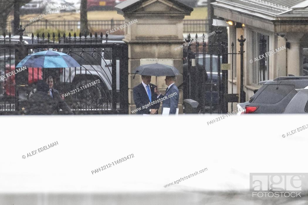 Stock Photo: Governor Andrew Cuomo (Democrat of New ..York) arrives at the White House prior to a scheduled meeting with United States President Donald J.