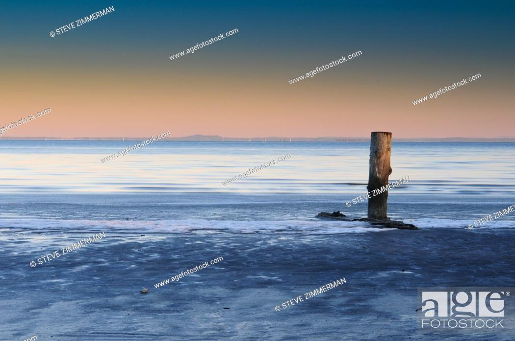 Stock Photo: Frost on Shore 1.