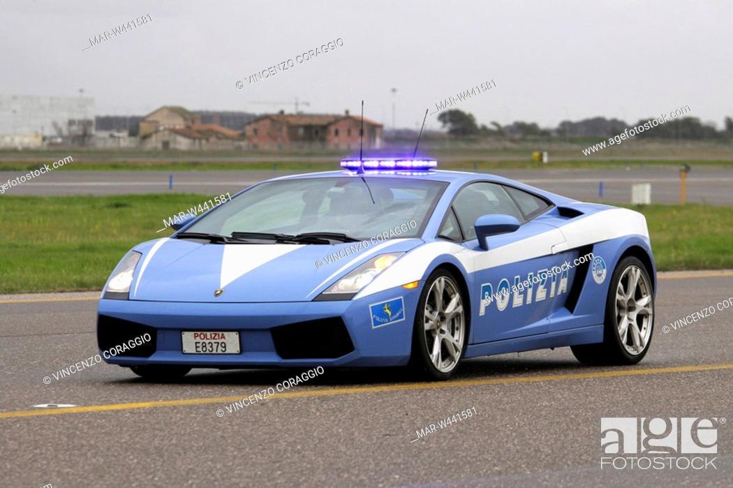 The New Lamborghini Gallardo Of The State Police Fiumicino Airport